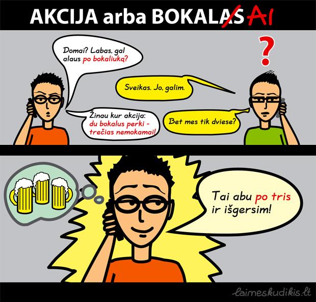 Akcija arba po bokaliuką alaus