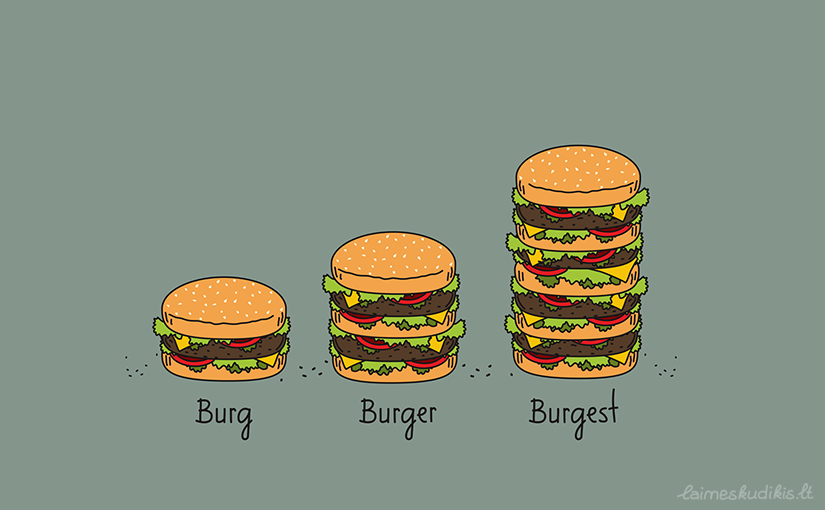 Burger explained t-shirts!