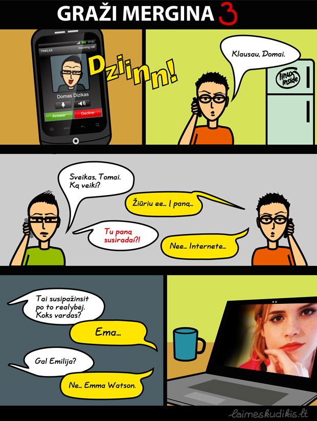 Graži mergina 3. Komiksai