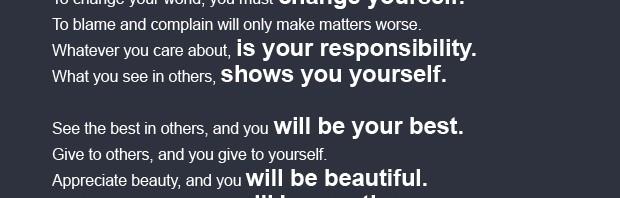 Pasaulis – tavo veidrodis