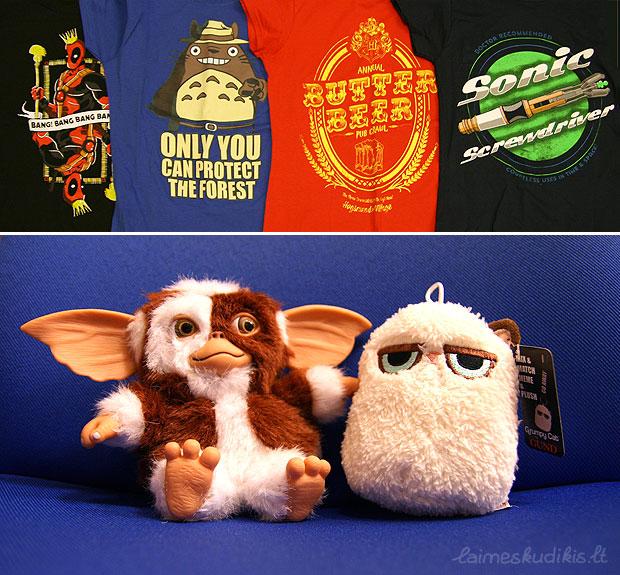 Marškinėliai, Gizmo ir Grumpy Cat
