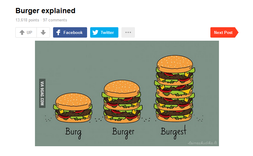 Burger explained. 9gag