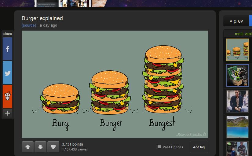 Burger explained. Imgur