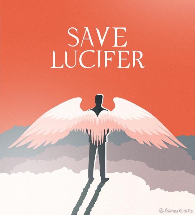 Mano iliustracija #SaveLucifer kampanijai